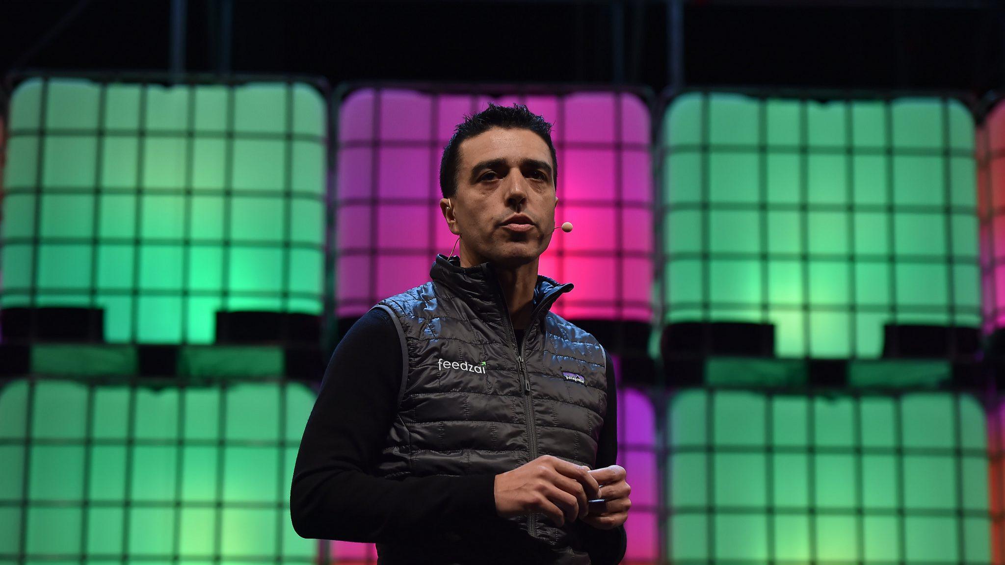Nuno Sebastião, CEO da Feedzai, na abertura do Web Summit 2017.